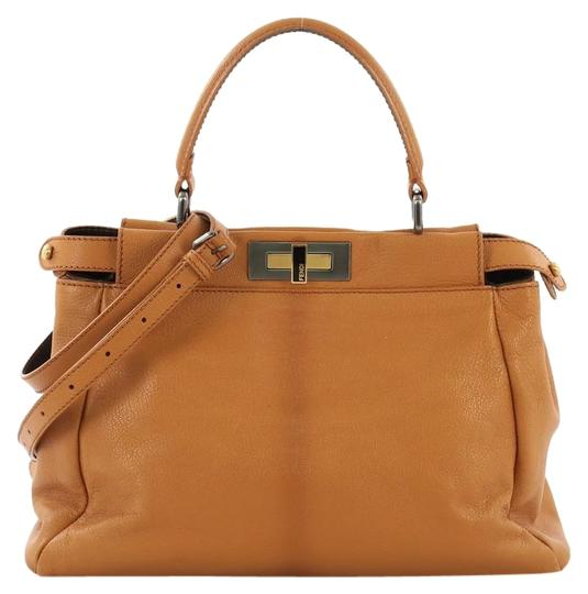 Fendi Leather Satchel in light brown Image 0