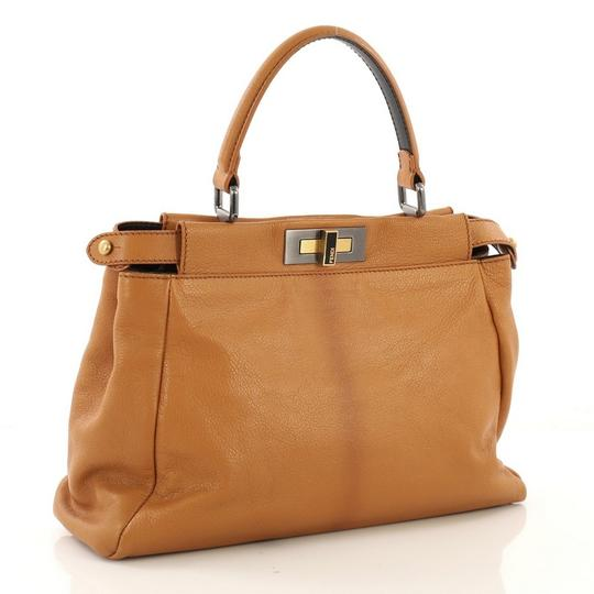 Fendi Leather Satchel in light brown Image 2