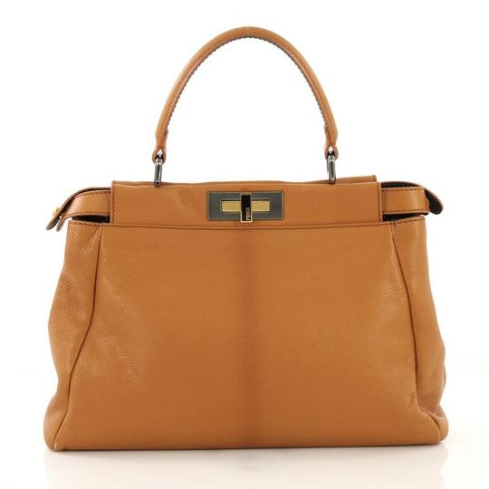 Fendi Leather Satchel in light brown Image 3