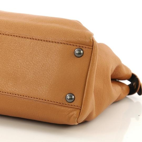 Fendi Leather Satchel in light brown Image 5