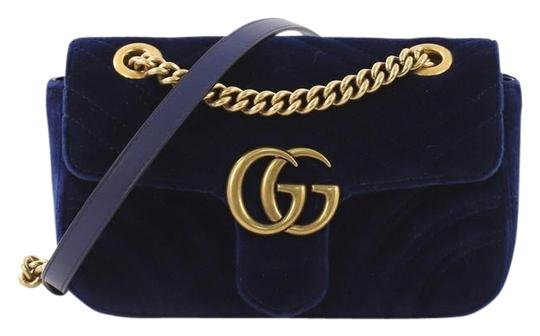 Preload https://img-static.tradesy.com/item/25239877/gucci-marmont-gg-flap-matelasse-mini-blue-velvet-shoulder-bag-0-1-540-540.jpg