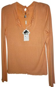Krizia Unique Design Funky Lightweight Top Peach/Light Orange