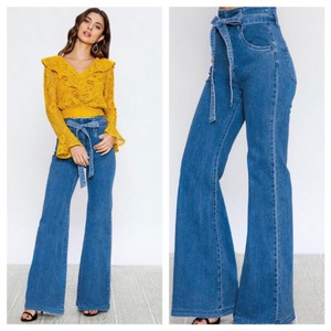 Flying Tomato Flare Leg Jeans-Light Wash