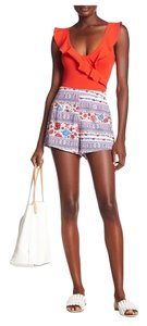 Show Me Your Mumu Festival Bright Summer Spring Mini/Short Shorts Red and Blue Floral