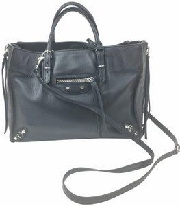 Balenciaga Leather Mini Satchel in Black
