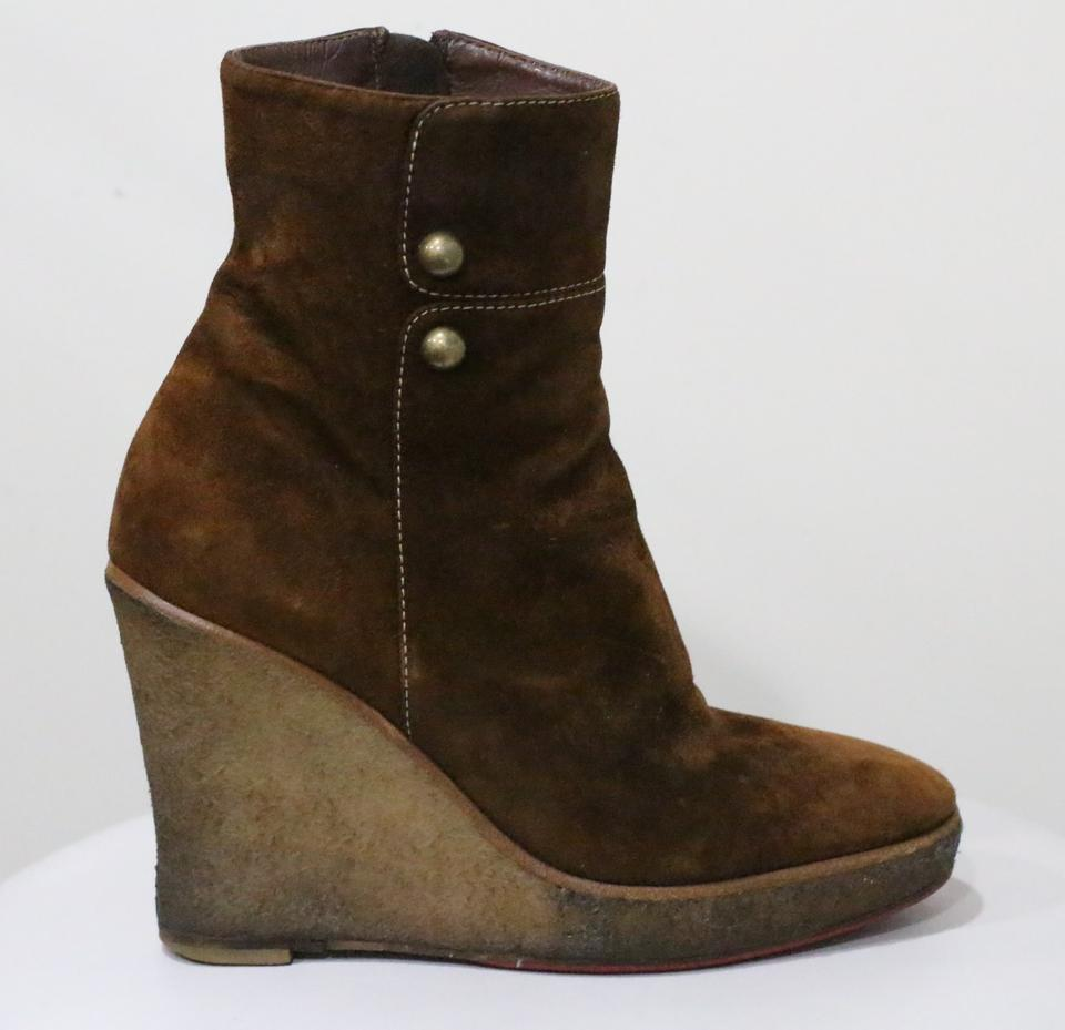 ebcca077116f Christian Louboutin Brown Love Story Suede Boots Booties. Size  EU 38 ...