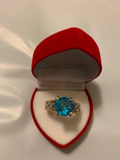 Fashion Hollow Plant Zircon Blue Gold Engagement Ring for Female Two-tone Flower Rhinestone Wedding Rings for Women Jewelry Ring Fashion Hollow Plant Zircon Blue Gold Engagement Ring for Female Two-tone Flower Rhinestone Wedding Rings for Women Jewelry Ring Image 11