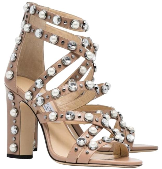 Item - Pink Moore 100 Jewel and Pearl Embellished Sandals Size EU 38 (Approx. US 8) Regular (M, B)