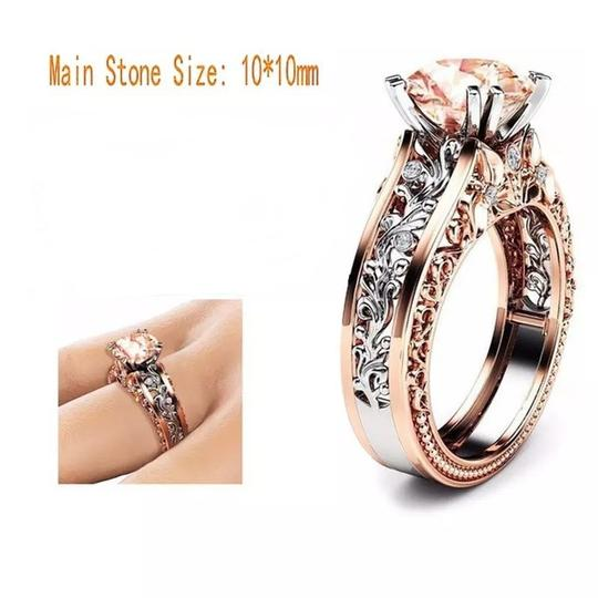 Fashion Hollow Plant Zircon Rose Gold Engagement Ring for Female Two-tone Flower Rhinestone Wedding Rings for Women Jewelry Ring Fashion Hollow Plant Zircon Rose Gold Engagement Ring for Female Two-tone Flower Rhinestone Wedding Rings for Women Jewelry Ring Image 1
