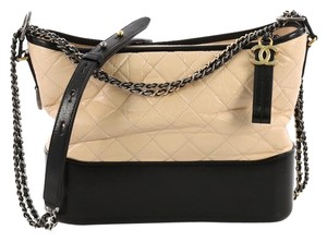 bc8c6bbe460c Chanel Gabrielle Hobo Quilted Aged Medium Nude Calfskin Leather ...
