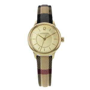 Burberry 26mm Honey Dial Stainless Steel Gold Tone Quartz