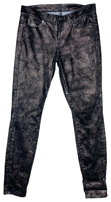 Item - Black Gold The Glitter Mblk Skinny Jeans Size 8 (M, 29, 30)