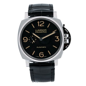 Panerai Panerai Luminor Due PAM00674 45MM Black Dial With Leather Bracelet