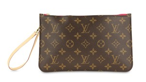 Louis Vuitton Monogram Neverfull Clutch Neverfull Clutch Wristlet in Brown