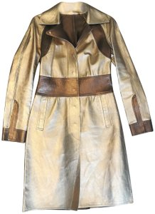 Gucci Tom Ford Rare Collectors Item Limited Edition Metallic Gold Leather Jacket