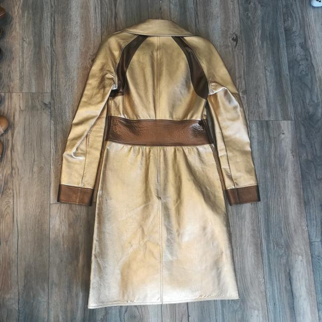 Gucci Tom Ford Rare Collectors Item Limited Edition Metallic Gold Leather Jacket Image 1