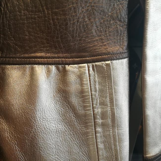 Gucci Tom Ford Rare Collectors Item Limited Edition Metallic Gold Leather Jacket Image 10
