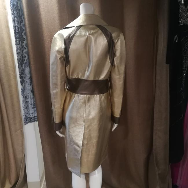 Gucci Tom Ford Rare Collectors Item Limited Edition Metallic Gold Leather Jacket Image 3