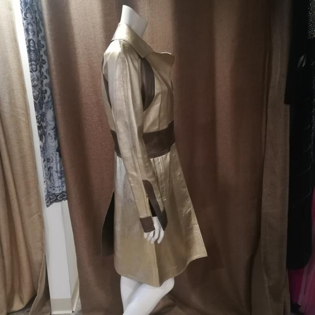 Gucci Tom Ford Rare Collectors Item Limited Edition Metallic Gold Leather Jacket Image 4