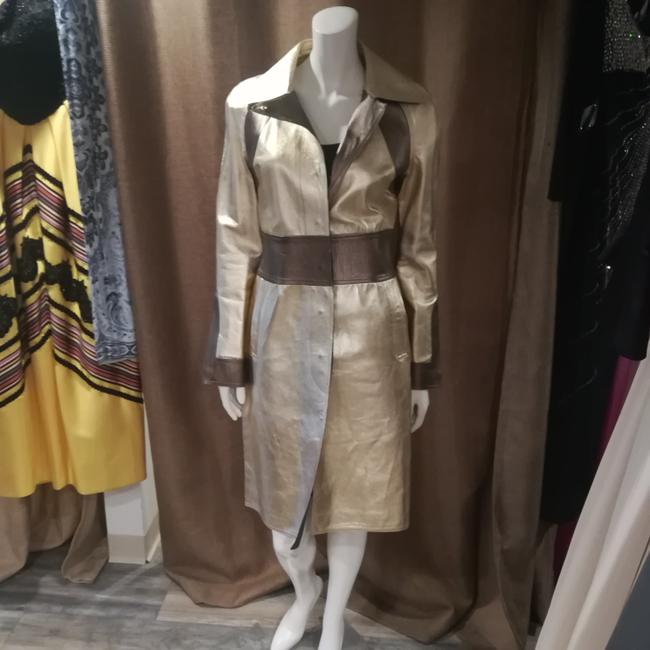 Gucci Tom Ford Rare Collectors Item Limited Edition Metallic Gold Leather Jacket Image 6