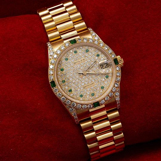 Rolex Rolex Datejust 68278 31MM Champagne Diamond Dial With Yellow Gold Image 1
