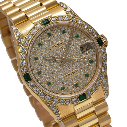 Rolex Rolex Datejust 68278 31MM Champagne Diamond Dial With Yellow Gold Image 2