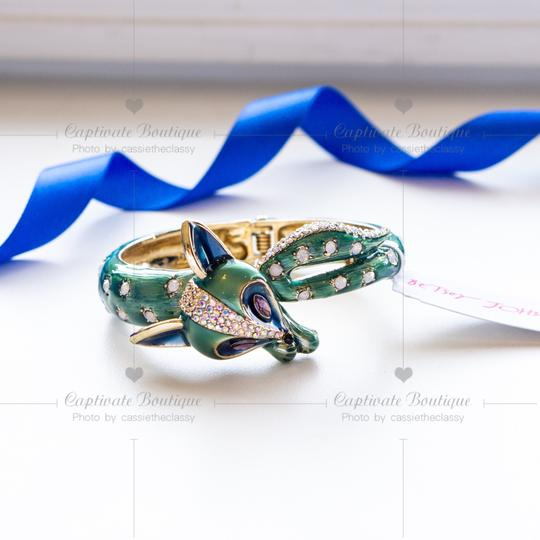 Betsey Johnson All Wrapped Up Fox Hinged Bangle Bracelet Image 2