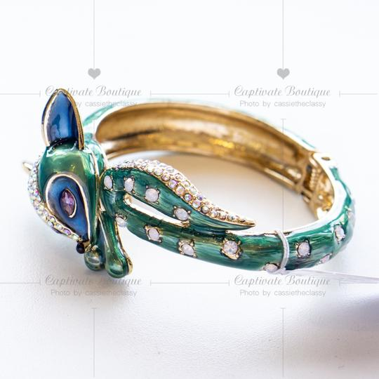 Betsey Johnson All Wrapped Up Fox Hinged Bangle Bracelet Image 3