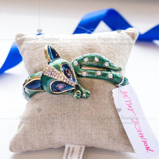 Betsey Johnson All Wrapped Up Fox Hinged Bangle Bracelet Image 4