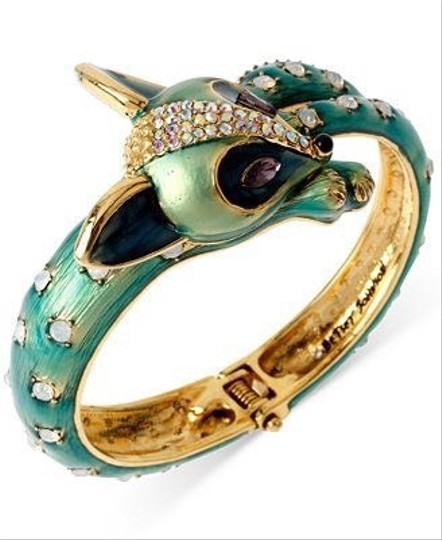 Betsey Johnson All Wrapped Up Fox Hinged Bangle Bracelet Image 5