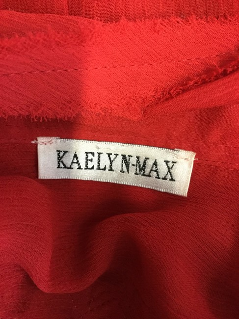 Kaelyn-Max Button Down Shirt Red Image 3