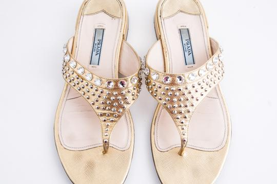 Prada Gold Sandals Image 11