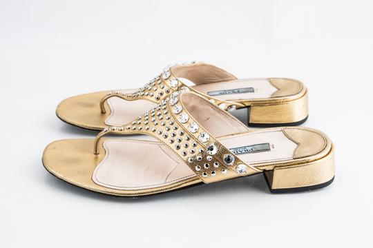 Prada Gold Sandals Image 2