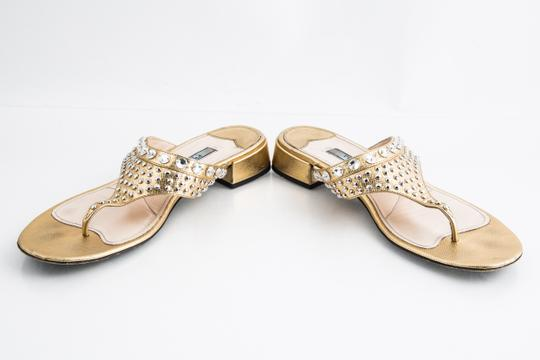 Prada Gold Sandals Image 5