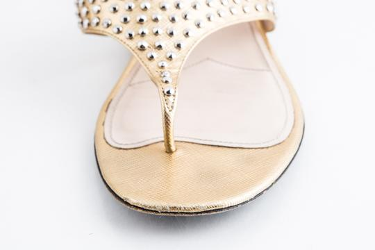 Prada Gold Sandals Image 8