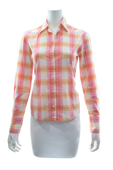 Preload https://img-static.tradesy.com/item/25241233/multicolor-checkered-cotton-shirt-button-down-top-size-4-s-0-0-650-650.jpg