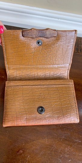 Gucci GUCCI Brown GG Canvas Leather Bamboo Card Case Wallet 112555 Image 10
