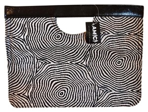 Amici Accessories black & white Clutch