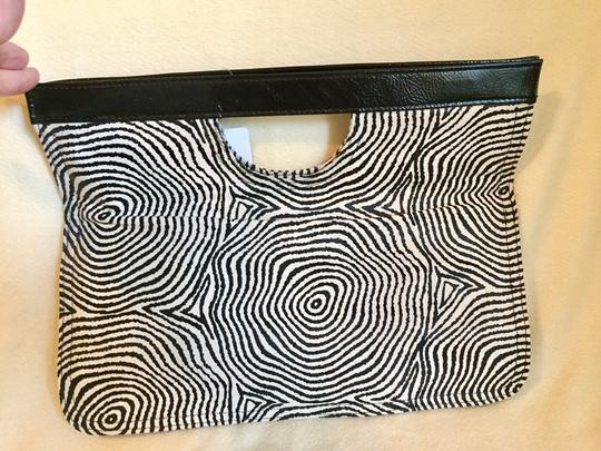 Amici Accessories black & white Clutch Image 1