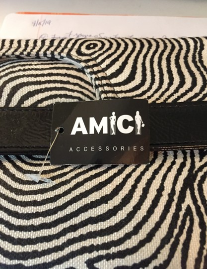 Amici Accessories black & white Clutch Image 9