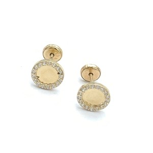 other (825) 14k gold round stud earrings