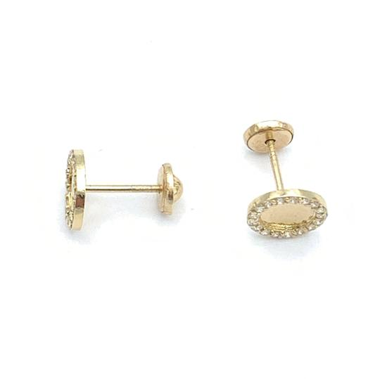 other (825) 14k gold round stud earrings Image 2