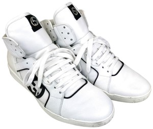 Gucci Leather High Top Sneakers White Athletic