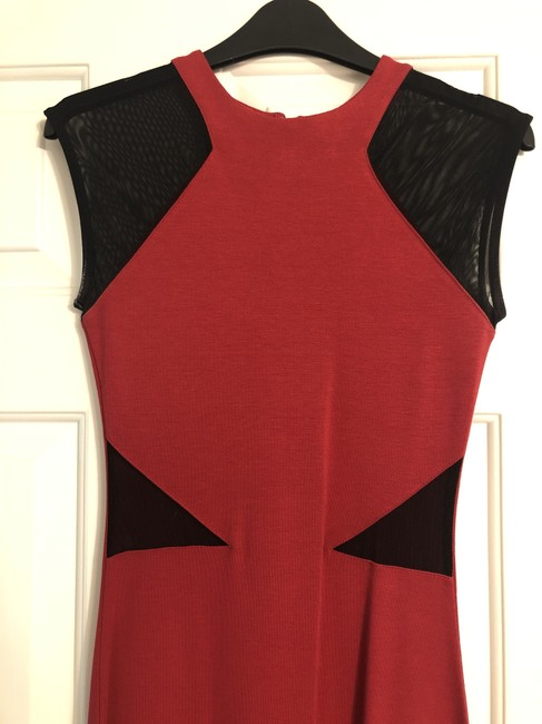 French Connection Bodycon Knit Mesh Cut-out Dress Image 1