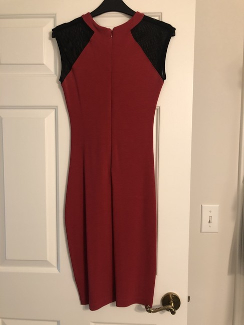 French Connection Bodycon Knit Mesh Cut-out Dress Image 2