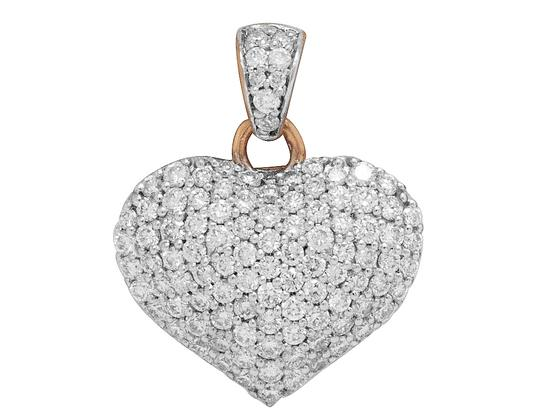 Preload https://img-static.tradesy.com/item/25241527/jewelry-unlimited-14k-rose-gold-real-diamond-puff-heart-pendant-08-15-ct-charm-0-0-540-540.jpg
