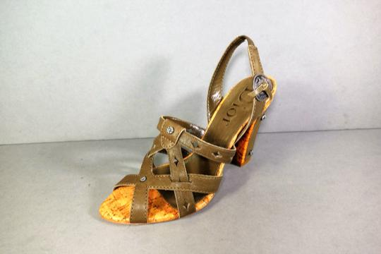 Dior Olive Green Brown Sandals Image 1