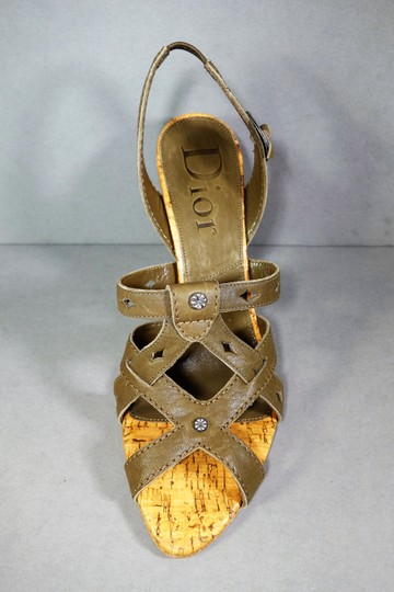 Dior Olive Green Brown Sandals Image 2