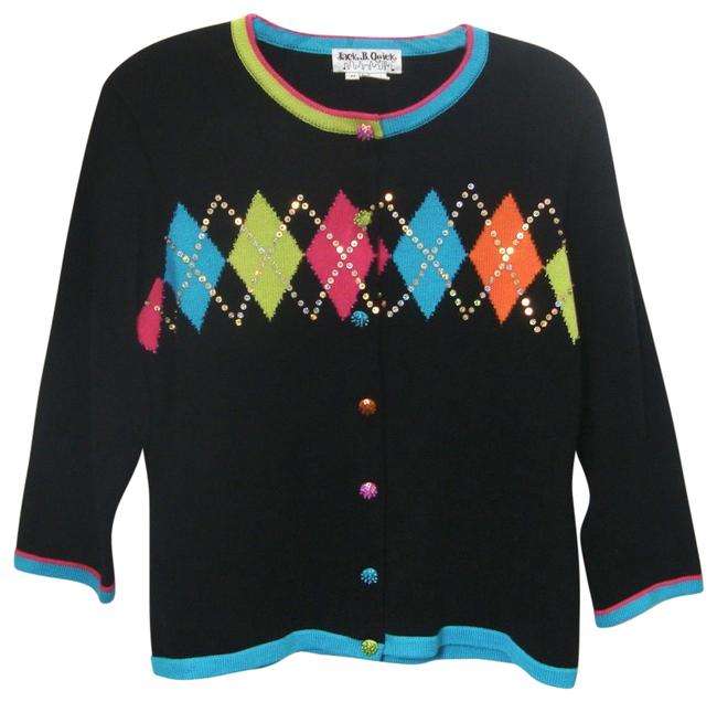 Preload https://img-static.tradesy.com/item/25241596/jack-b-quick-multi-color-sequin-embellished-argyle-sweater-button-front-cardigan-size-10-m-0-1-650-650.jpg