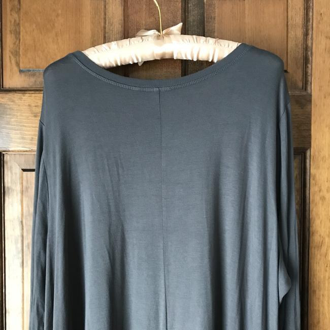 LOGO Style Rounded Neckline Long Sleeves Pockets Extra Button Tunic Image 4